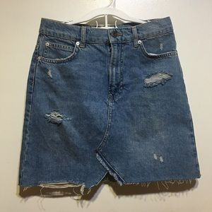 NWOT Free People Denim Mini Short Skirt